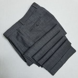 Chaps gray double pleated dress pants